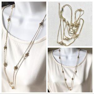 Vintage gold long necklace